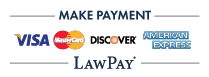 Make payment with credit card via LawPay